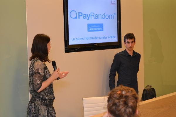 Moment de l'Emprenedor per a PayRandom, creadors del preu per atzar