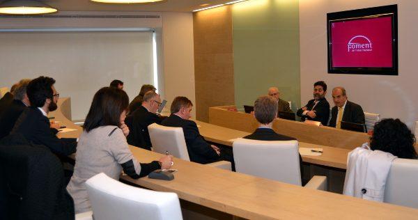 Foment expresa su apoyo al TTIP al jefe negociador del acuerdo por parte de la Unión Europea
