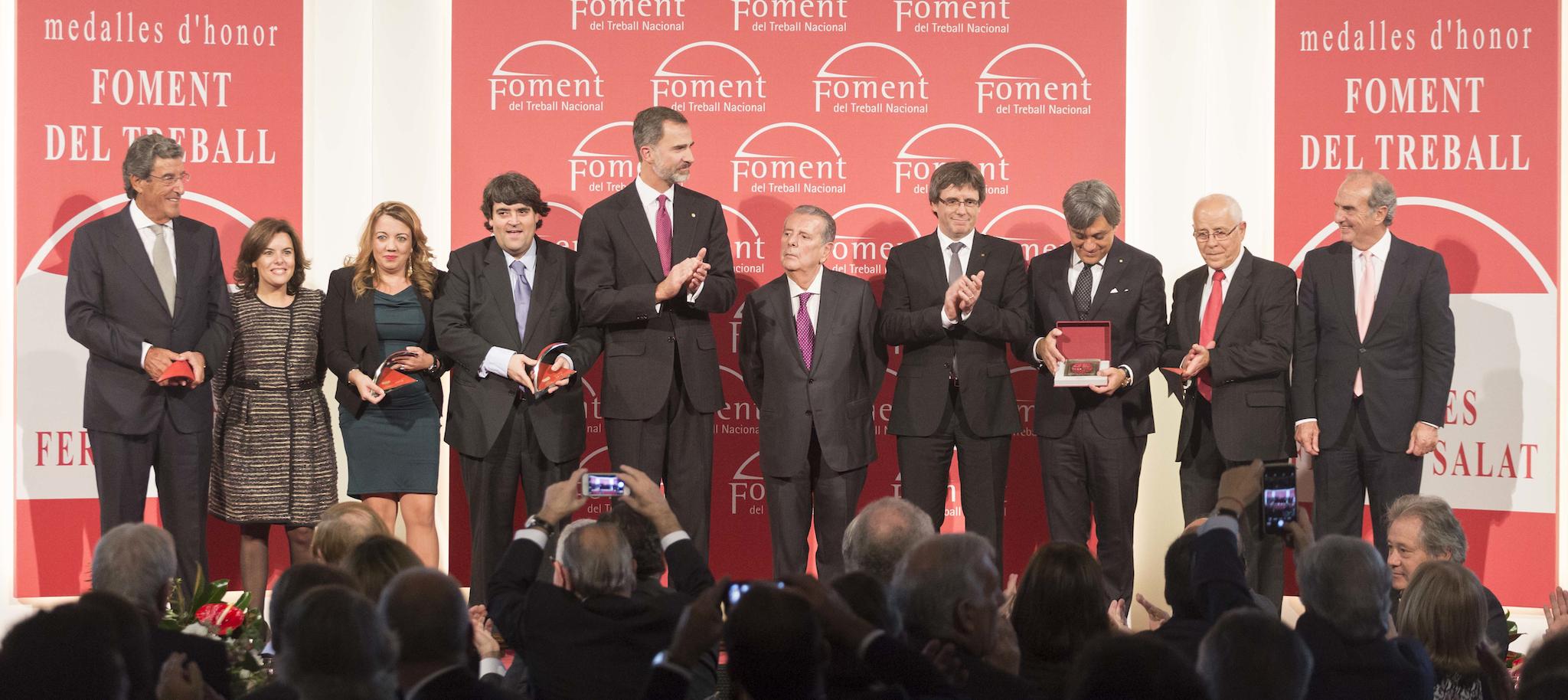 Foment reconoce el esfuerzo inversor de SEAT y la trayectoria empresarial de Javier Godó