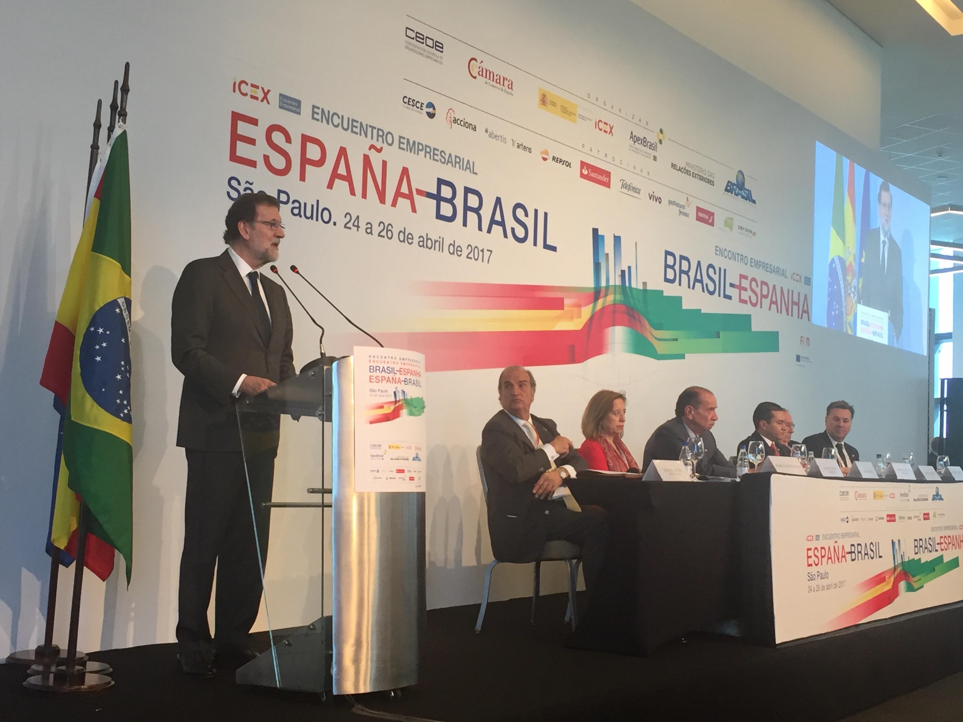 Joaquim Gay de Montellà, com a vicepresident de la CEOE, va participar en la Trobada Empresarial Espanya-Brasil per analitzar les oportunitats de negoci