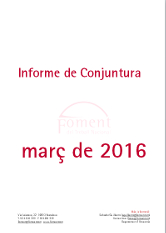 Informe de Conjuntura. Març de 2016