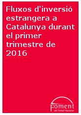 Fluxos d'inversió estrangera a Catalunya durant el primer trimestre de 2016