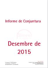 Informe de Conjuntura. Desembre de 2015