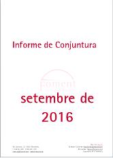 Informe de Conjuntura. Setembre de 2016