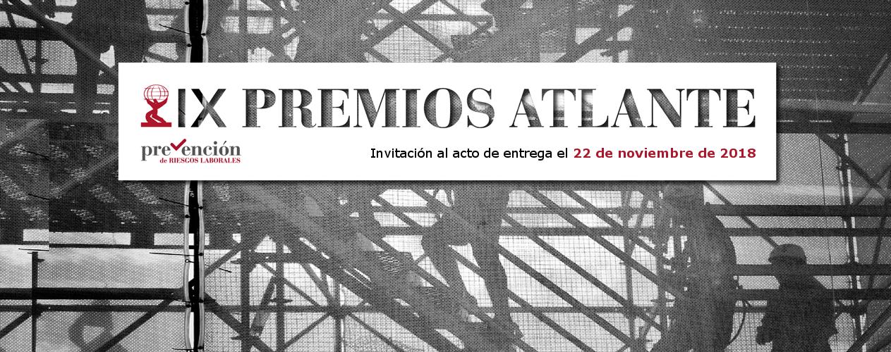 Invitación. IX Edición de los Premios Atlante a la prevención de riesgos laborales