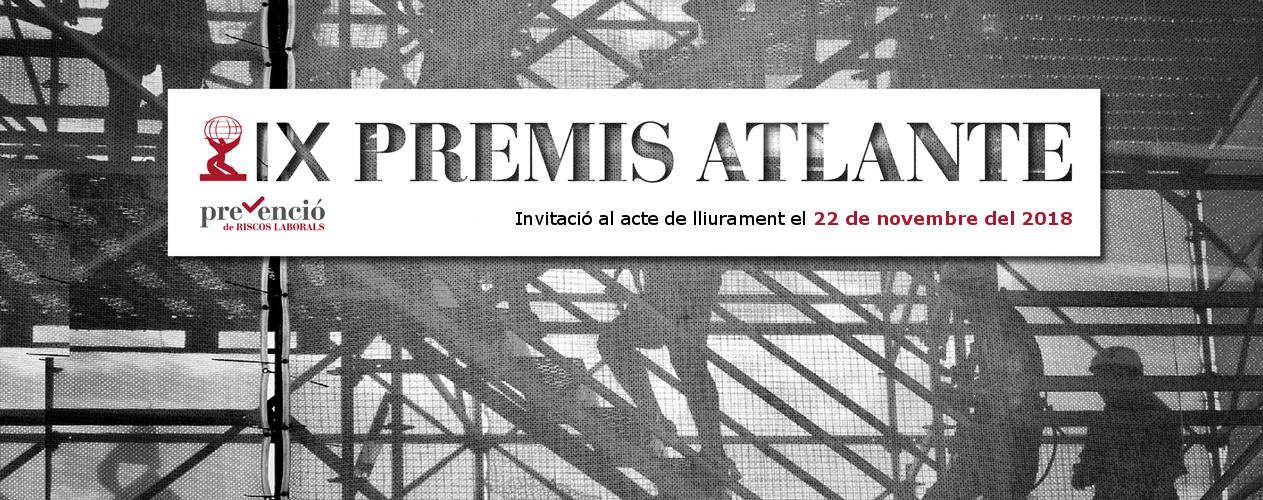 Invitació. IX Edició dels Premis Atlante a la prevenció de riscos laborals
