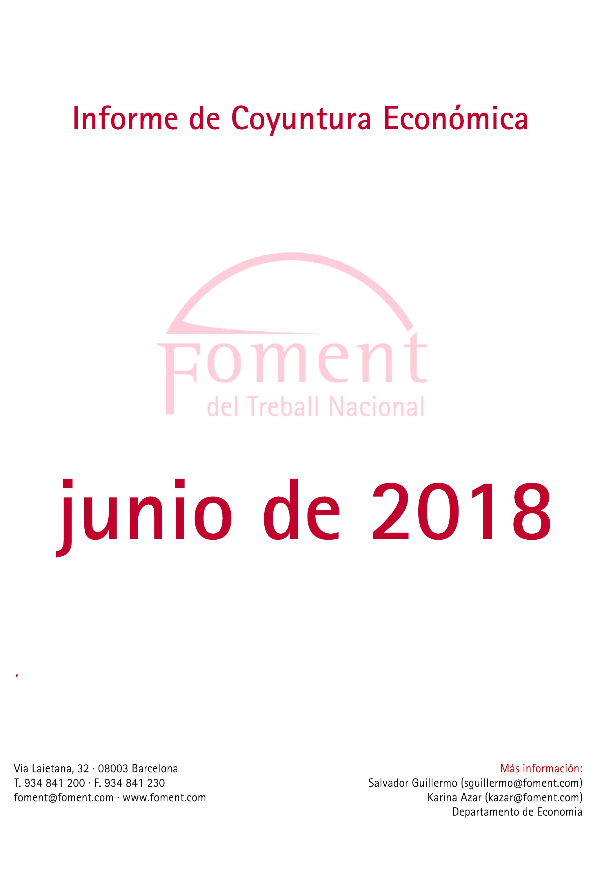 Informe de Coyuntura Económica en Cataluña. Junio de 2018