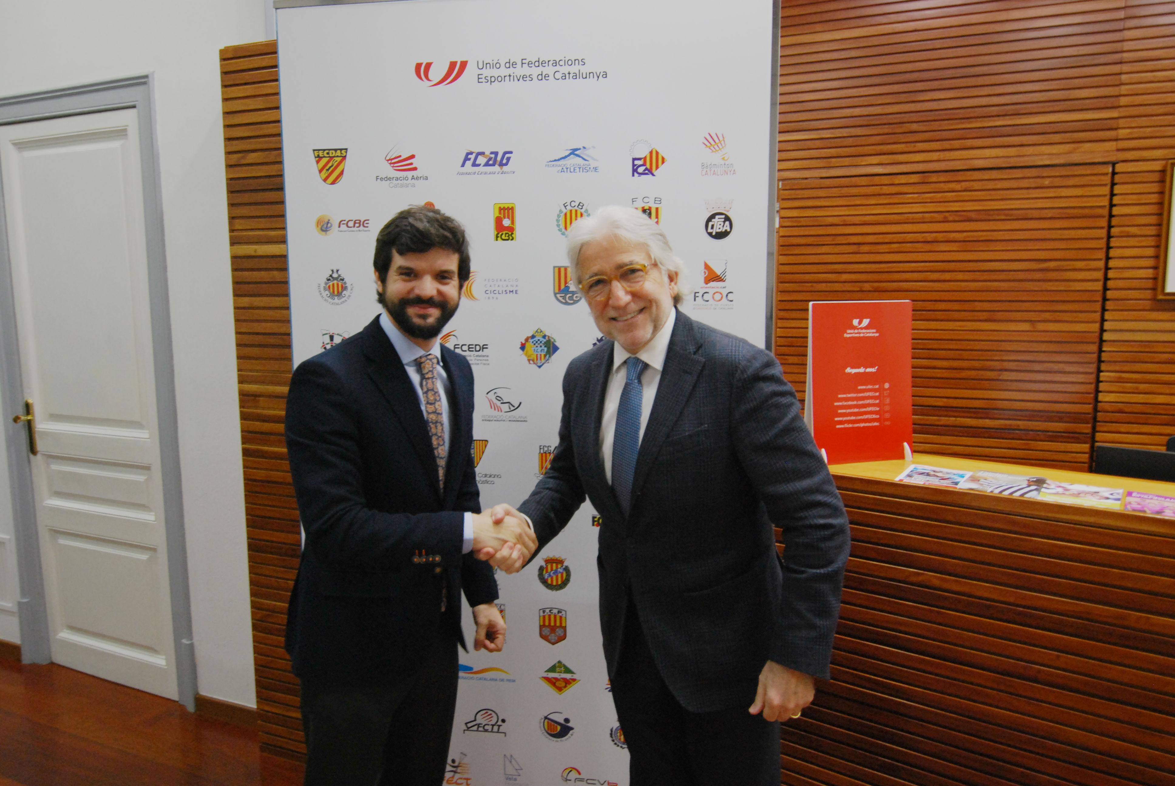 Foment y la UFEC estudian vías de colaboración para incorporar el sector del deporte en las líneas de trabajo de la patronal catalana