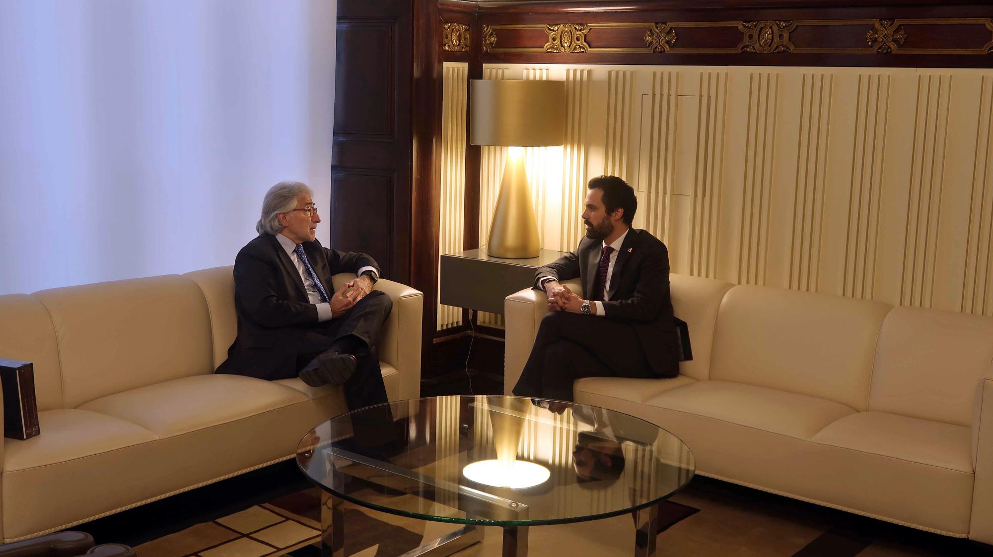 Foment trasllada al President del Parlament el seu compromís amb el progrés i el benestar de Catalunya