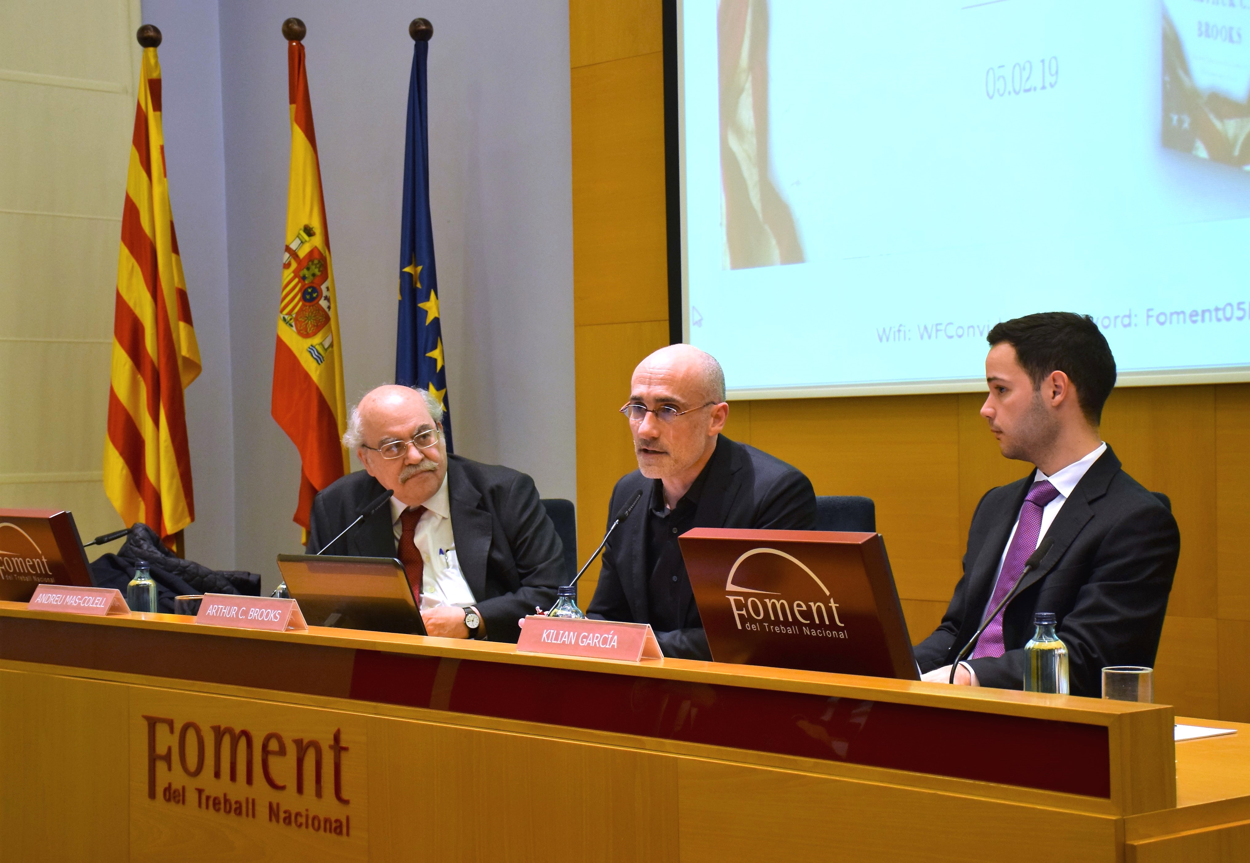 "Foment acoge la presentación del libro ""Love your enemies"" de Arthur Brooks"