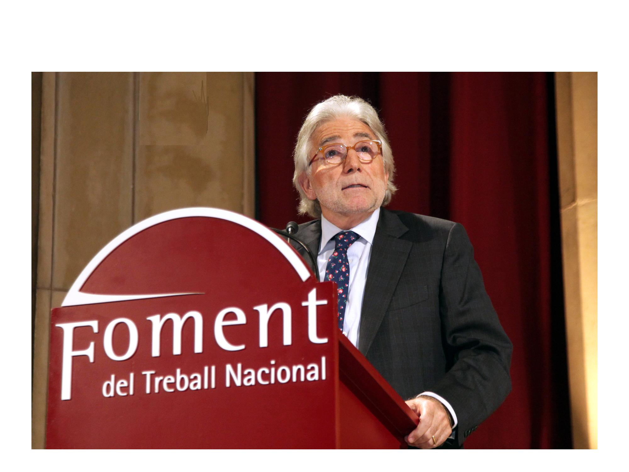 Josep Sánchez Llibre tiene un compromiso firme y exclusivo con el Foment del Treball y el progreso empresarial, económico y social de Cataluña