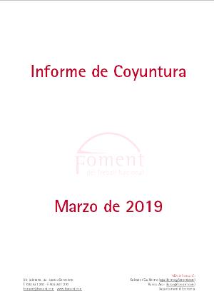Informe de Coyuntura Económica en Cataluña. Marzo de 2019