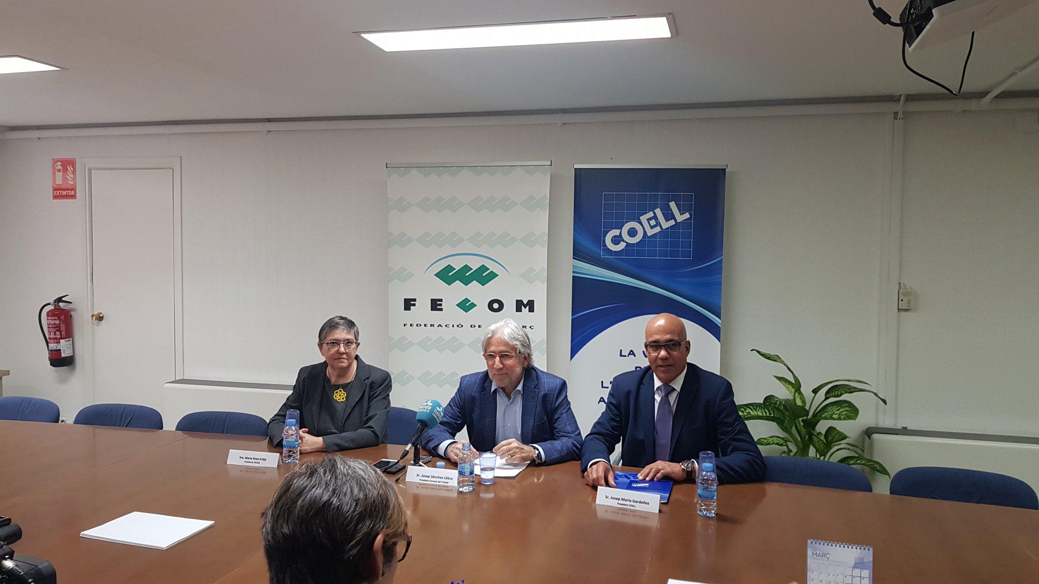 """Sánchez Llibre: """"COELL i FECOM han estat decisives en la consolidació del teixit empresarial i comercial de les Terres de Lleida"""""""