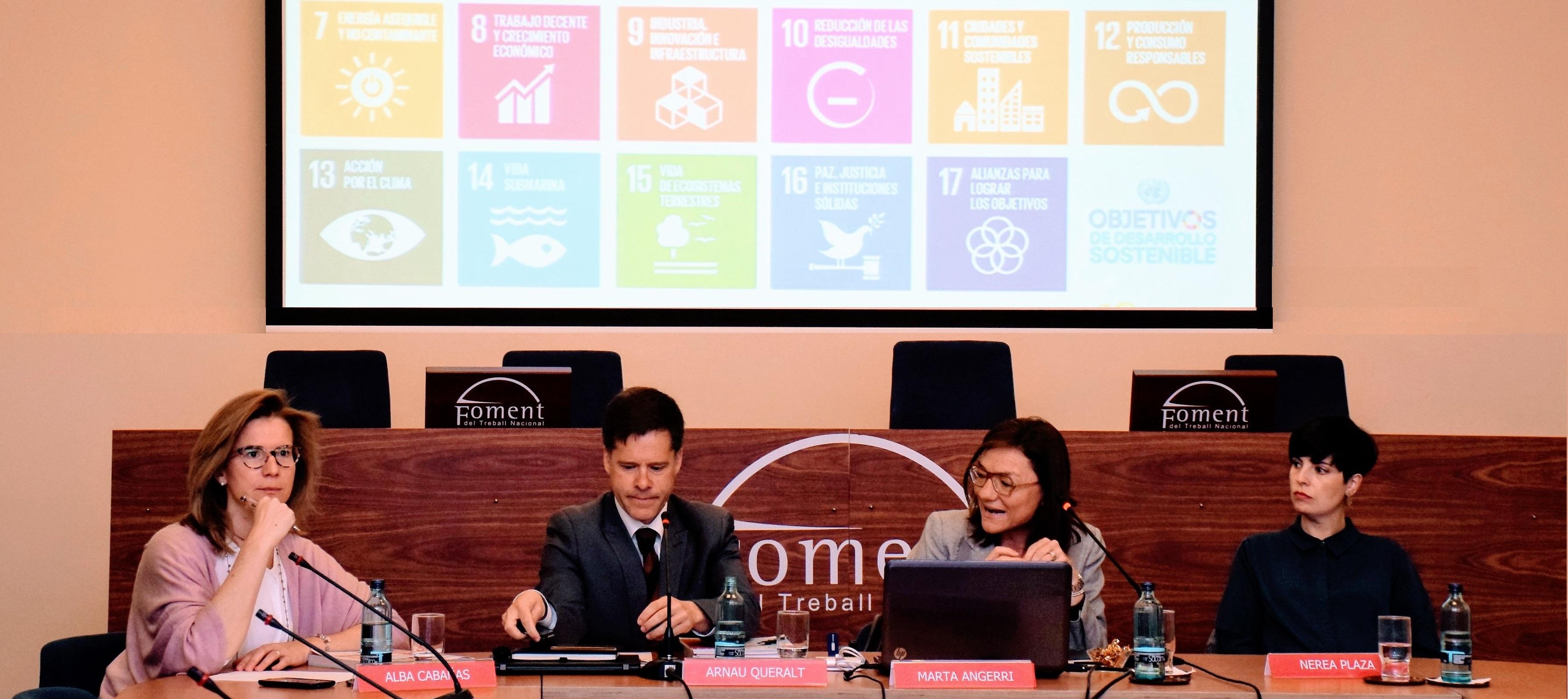 Foment es compromet a impulsar l'Agenda 2030 entre les seves empreses