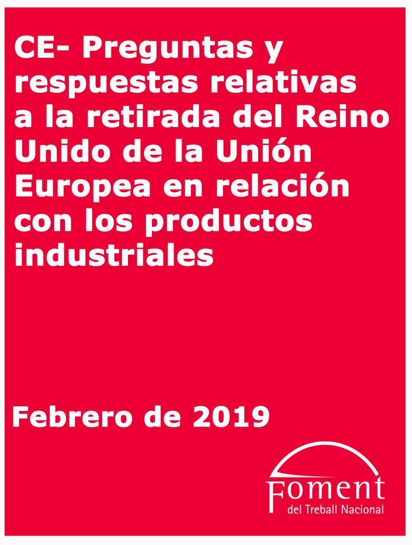 Preguntes i respostes relatives a la retirada del Regne Unit de la Unió Europea en relació amb els productes industrials