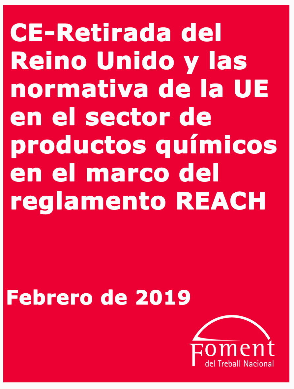 Retirada del Regne Unit i normativa de la UE en el sector de productes químics en el marc del Reglament REACH