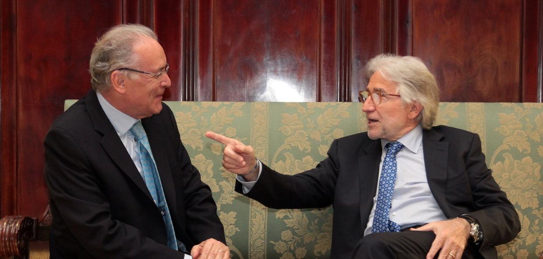 Trobada entre l'ambaixador d'Espanya a Jamaica i el president de Foment