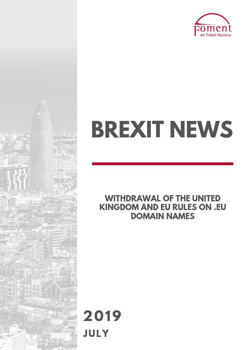 WITHDRAWAL OF THE UNITED KINGDOM AND EU RULES ON .EU DOMAIN NAMES