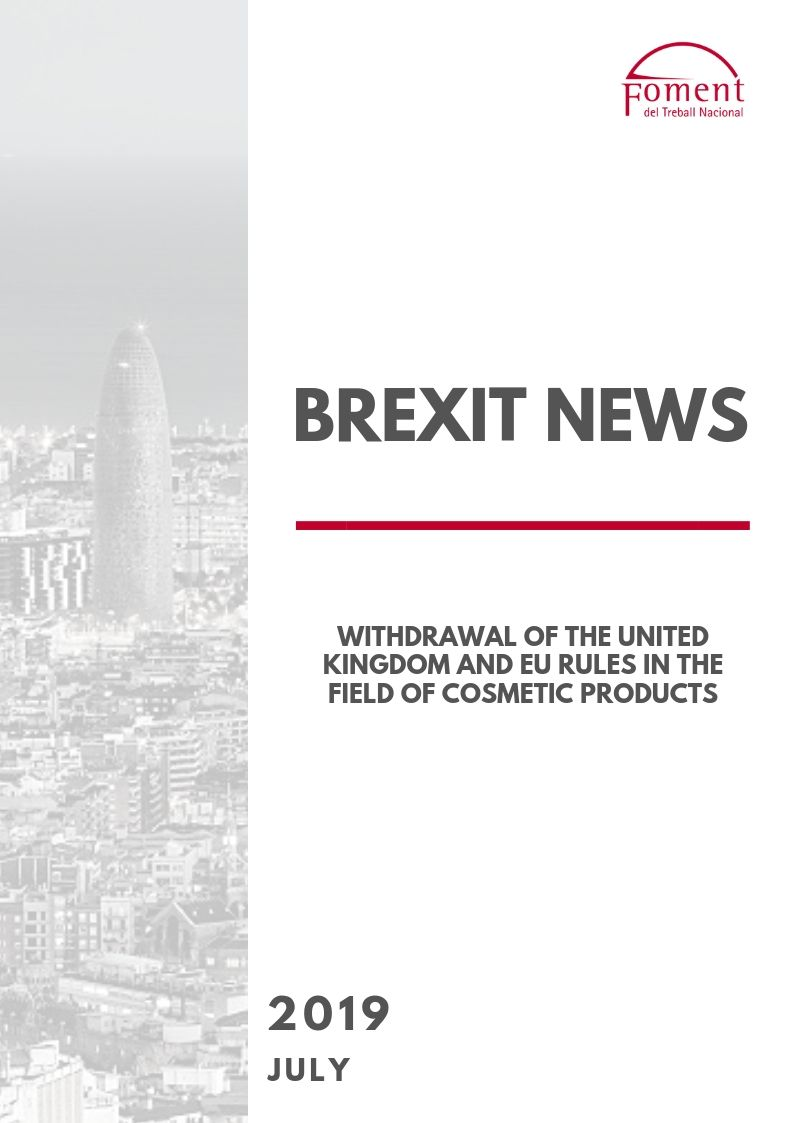 WITHDRAWAL OF THE UNITED KINGDOM AND EU RULES IN THE FIELD OF COSMETIC PRODUCTS