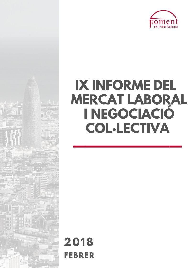 IX Informe del Mercat Laboral i Negociació Col·lectiva – Febrer de 2018