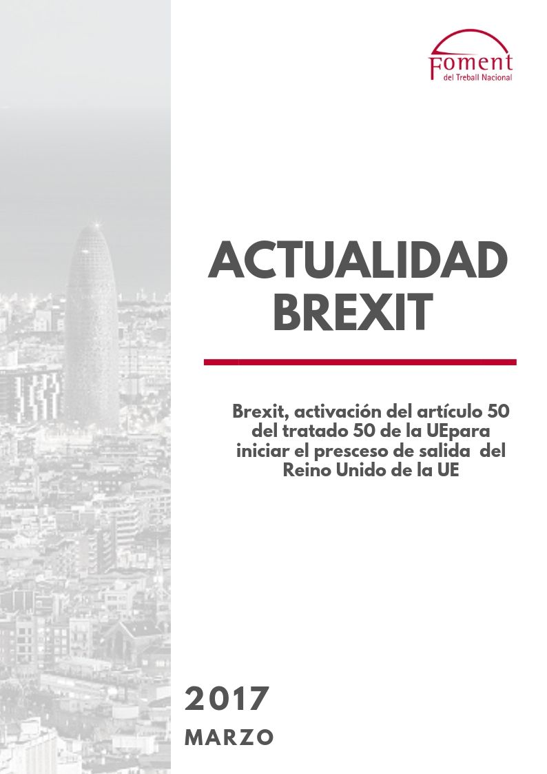 ACTIVACIÓN DEL ARTÍCULO 50 DEL TRATADO DE LA UE PARA ACTIVAR LA SALIDA DE REINO UNIDO
