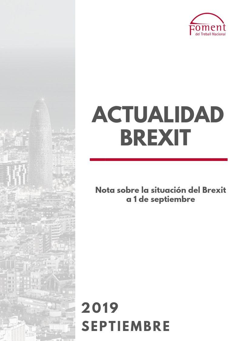 NOTA SOBRE LA SITUACIÓN DEL BREXIT A 1 DE SEPTIEMBRE DE 2019