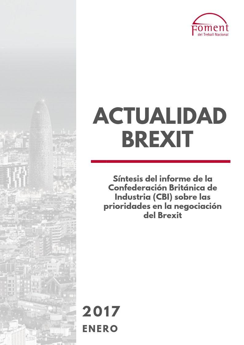 Síntesis del informe de la Confederación Británica de la Industria (CIB) sobre las prioridades en la negociación del Brexit- Enero 2017