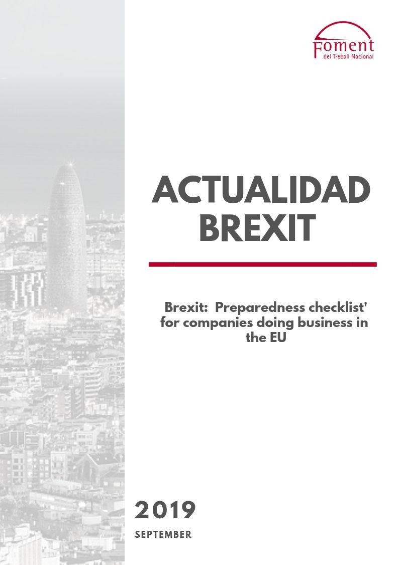 'BREXIT PREPAREDNESS CHECKLIST' FOR COMPANIES DOING BUSINESS IN THE EU