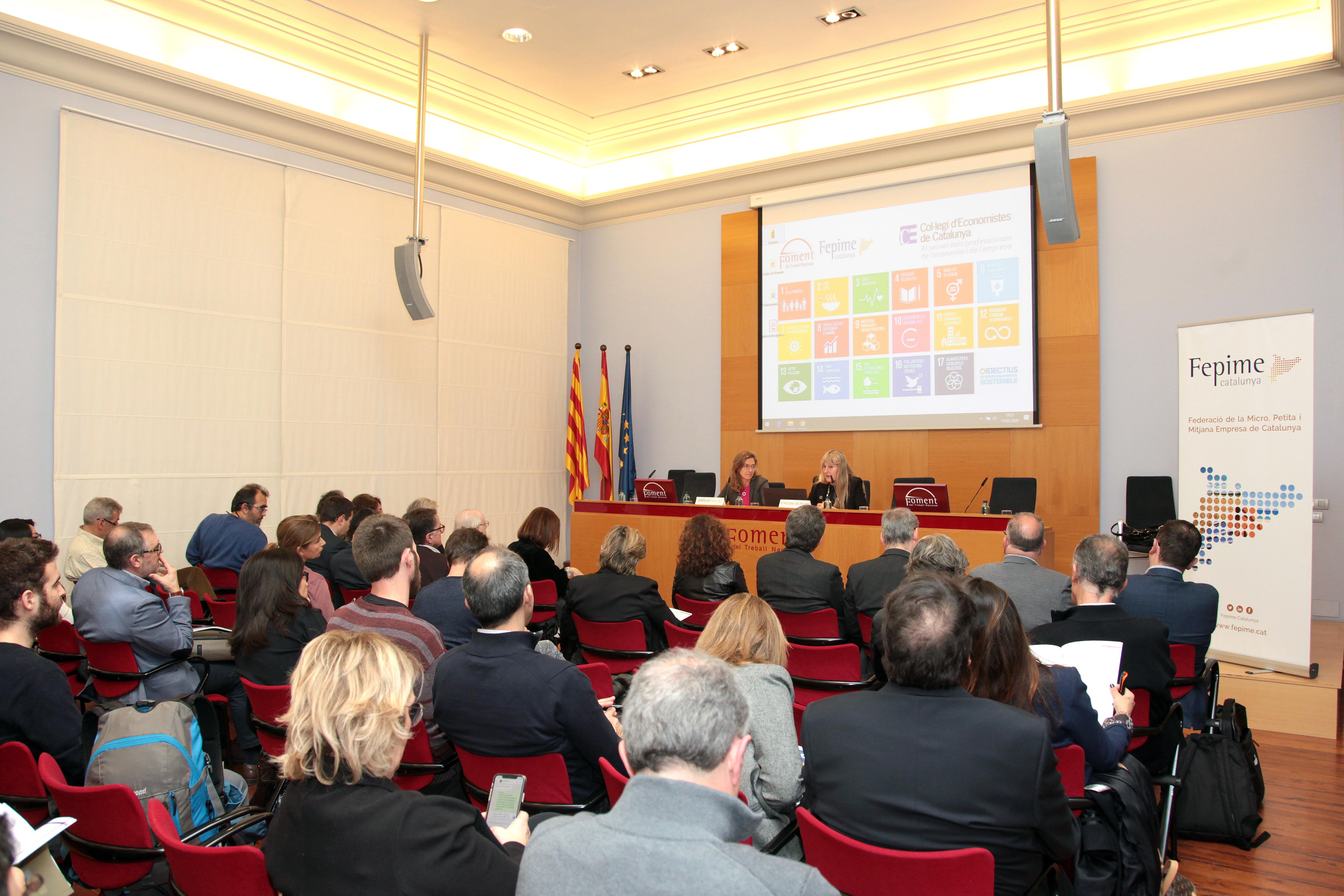 Fepime Catalunya i el Col·legi d'Economistes de Catalunya presenten a Barcelona una guia per a pimes davant els Objectius de Desenvolupament Sostenible
