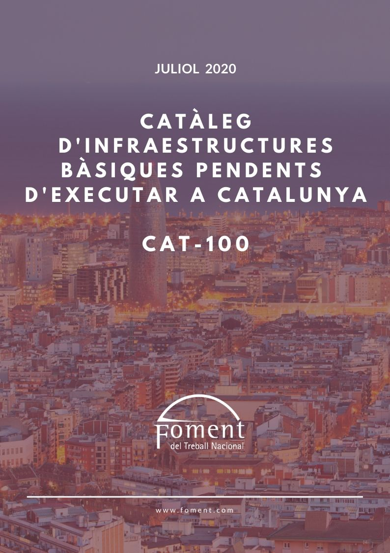 Catálogo de infraestructuras básicas pendientes de ejecutar en Cataluña CAT-100