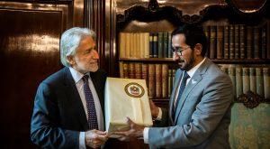 Encuentro entre el cónsul general de los Emirates Árabes Unidos y el presidente de Foment