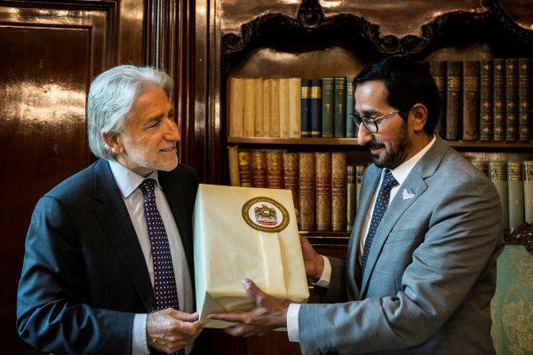 Trobada entre el cònsol general dels Emirats Àrabs Units i el president de Foment