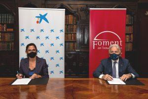 CaixaBank y Foment fortalecen su colaboración para seguir impulsando la competitividad tecnológica de las empresas catalanas