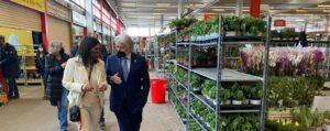 El presidente de Foment visita el Mercat de Flor i Planta Ornamental de Catalunya