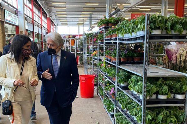 El president de Foment visita el Mercat de Flor i Planta Ornamental de Catalunya