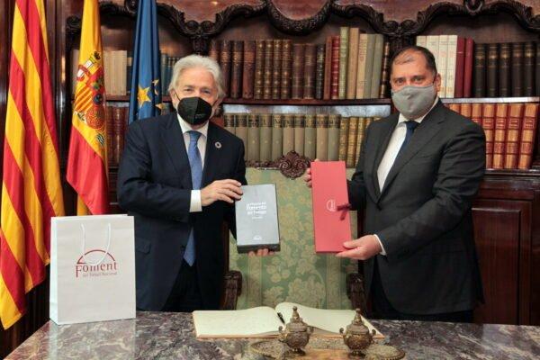 L'ambaixador de Letònia visita Foment