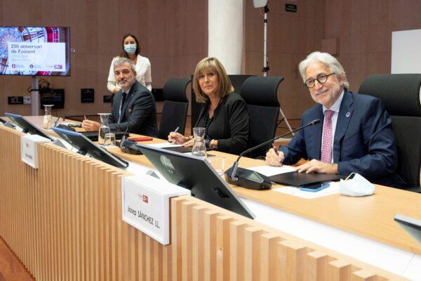Diputació de Barcelona, Ajuntament de Barcelona i Foment del Treball sumen esforços per fomentar la reactivació social i econòmica de la província